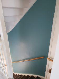 onbewerkte muur-brickwall-trapgat-nieuw