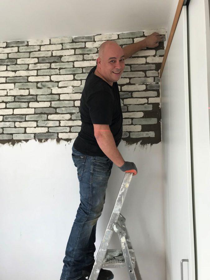 enrico steenstrips baksteen muur
