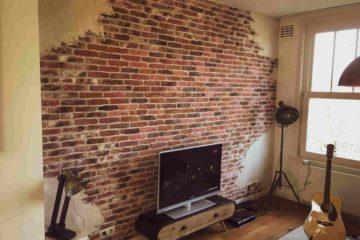 bakstenen muur-unieke muur-industriële muur-oude muur-stucwerk