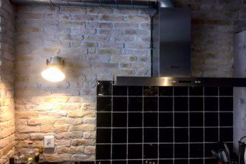 unieke muur-handgemaakte steenstrips-industriele muur-landelijk wonen