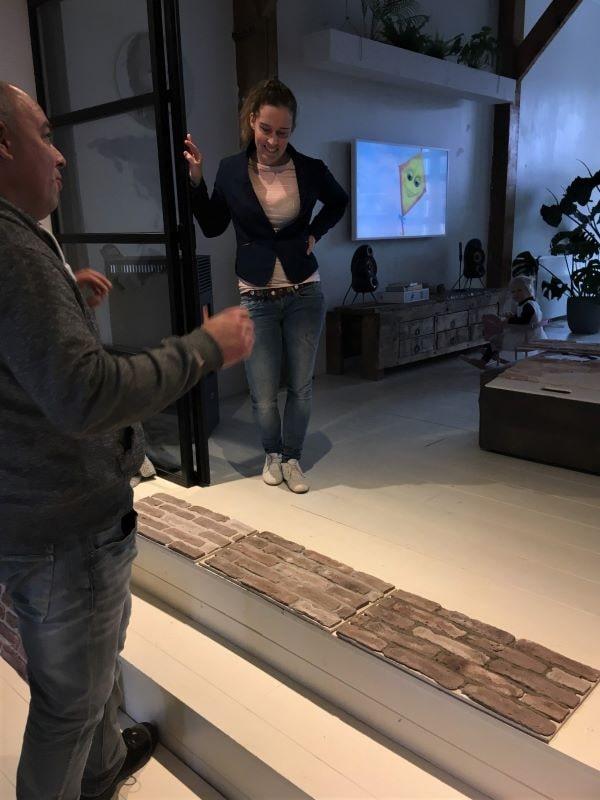 advies op locatie - voegkleur- proefmuurtjes- bij Jellina Detmar - Wall of Steen -
