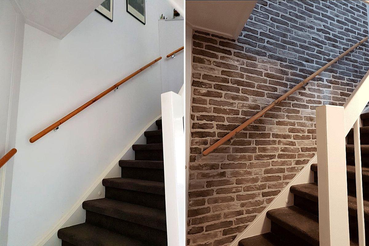 Wall of Steen-industriële bakstenen muur-dunne steenstrips