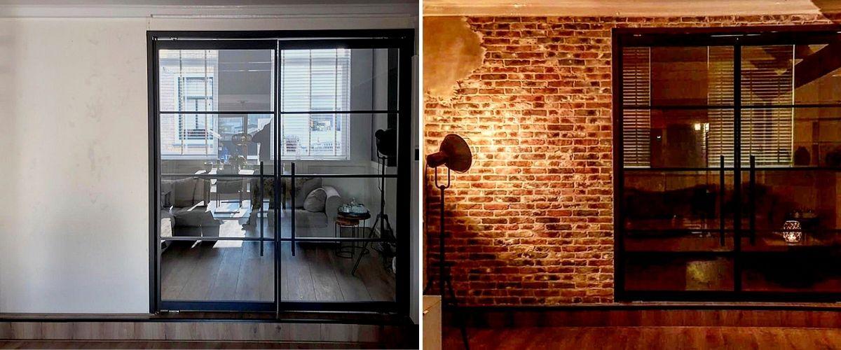 industriële bakstenen muur-muur met stuc-industrieel interieur-Wallofsteen