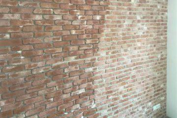 voegen-bakstenen muur-Wall of Steen-unieke muur-voegkleur