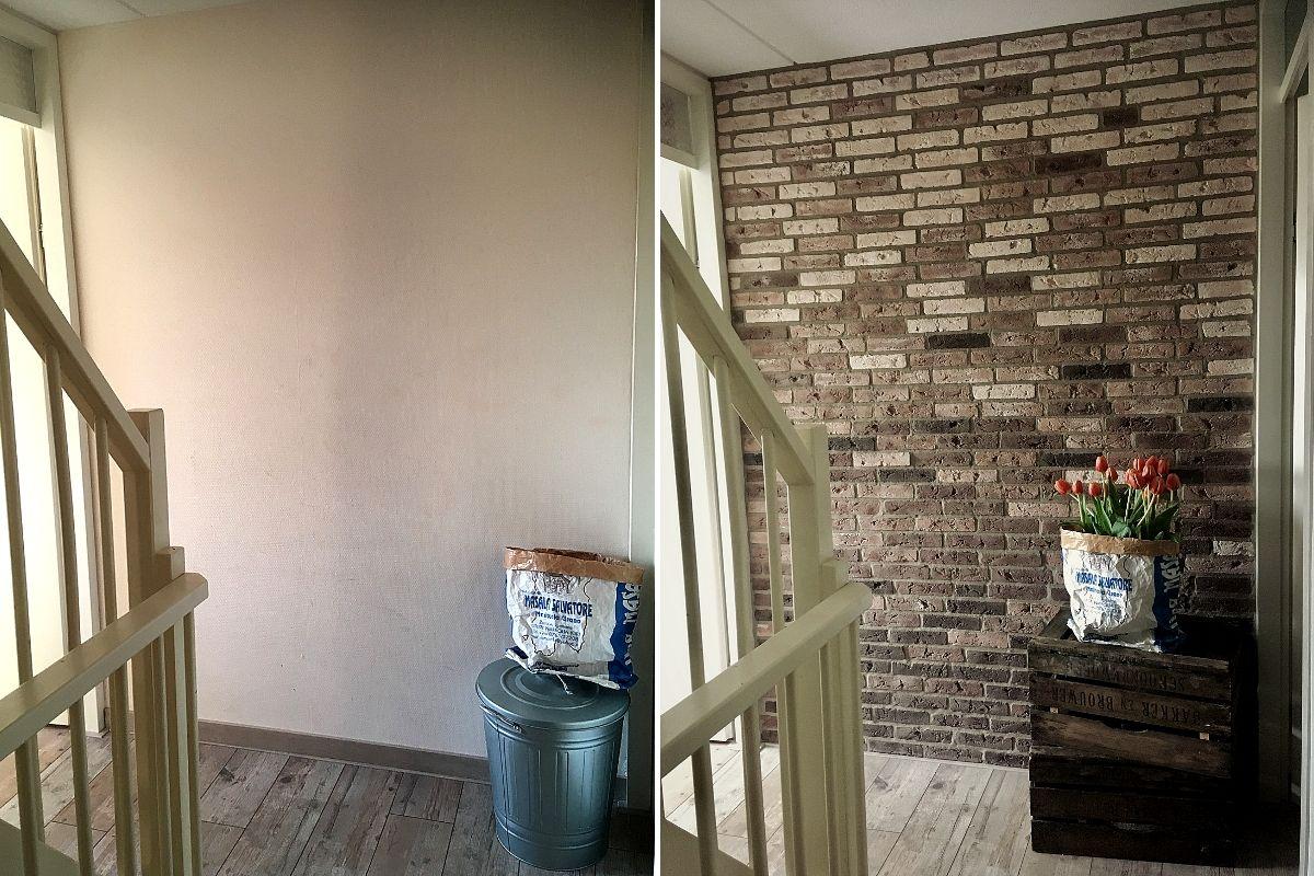 wall of steen- bakstenen muur