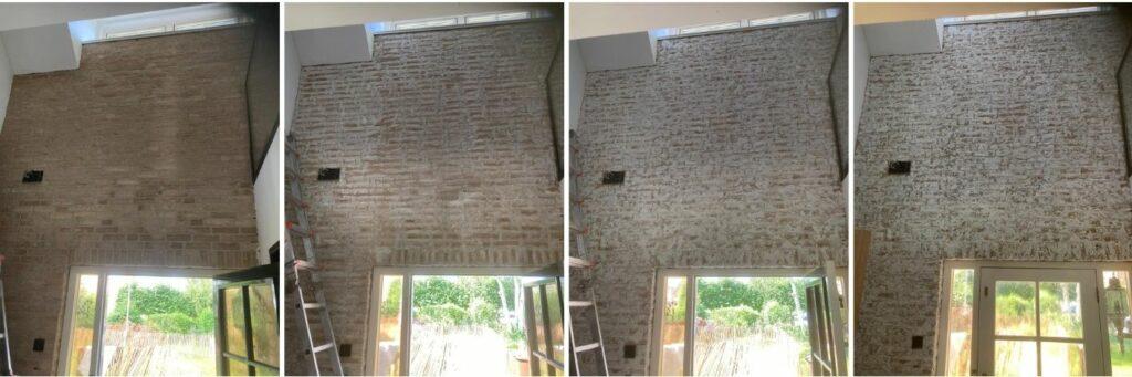 bakstenen muur verouderen door Wall of Steen
